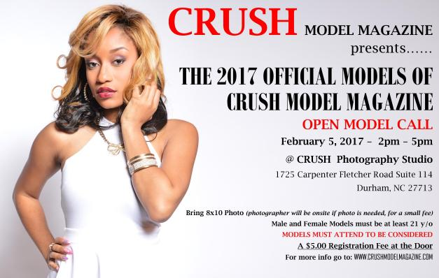THE 2017 CRUSH MODEL MAGAZINE OPEN MODEL CALL