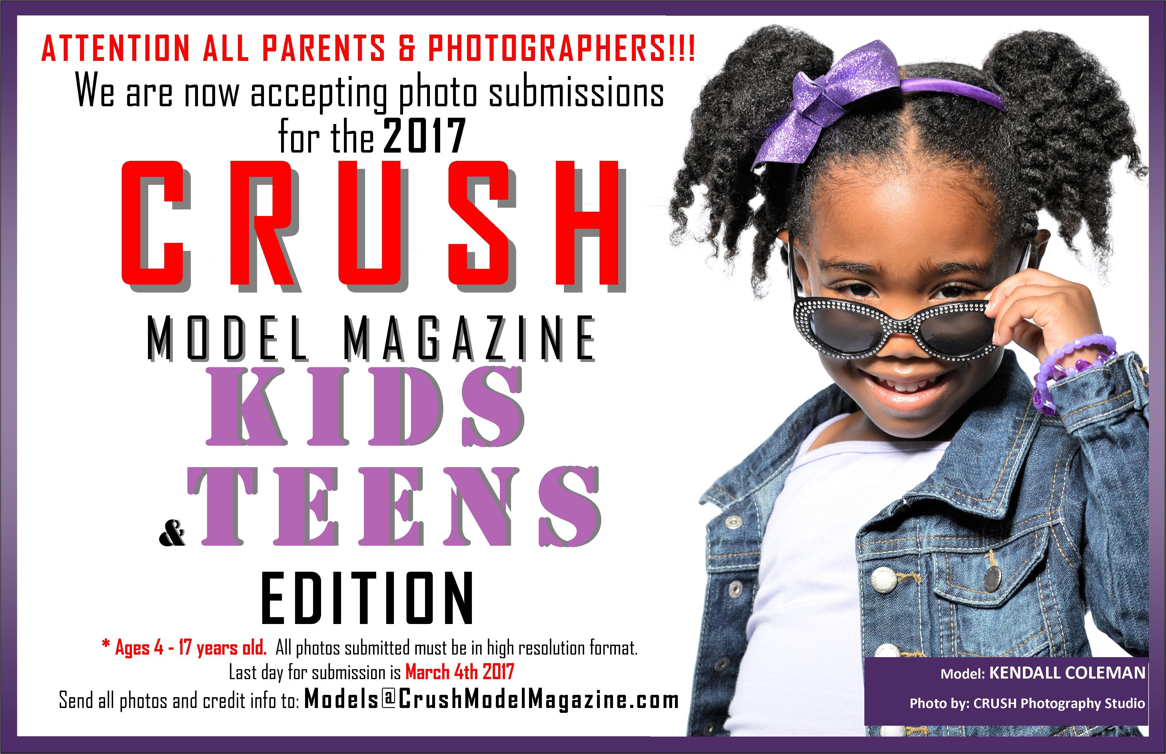 CRUSH Model Magazine's KIDS & TEENS Edition Photo